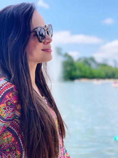 Water Sunglasses Glasses One Person Fashion Long Hair Lifestyles Young Women Portrait Headshot Beautiful Woman