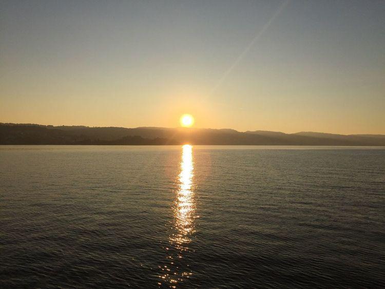 Sunset Zürichsee Switzerland