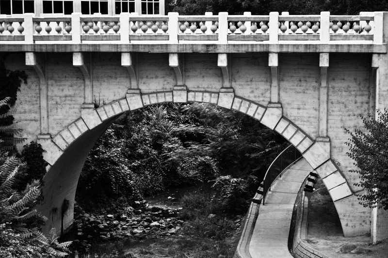Architecture Built Structure Arch Outdoors Bridge - Man Made Structure Day No People Black & White Blackandwhite EyeEmNewHere Rocks Tree