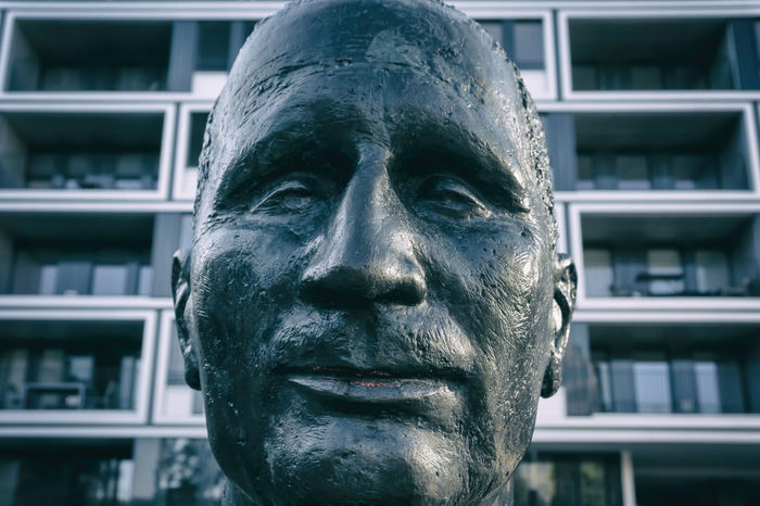 Berthold-Brecht bust at 'Berliner Ensemble' theater in Berlin, Germany Berlin Berliner Ensemble Berthold Brecht Bust  Close-up Color Image Day Germany🇩🇪 Horizontal Human Face Human Representation No People Outdoors People Photography Sculpture Statue