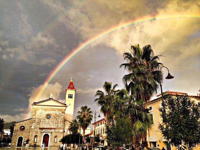 Beautiful Rainbow Enjoying Life Nature