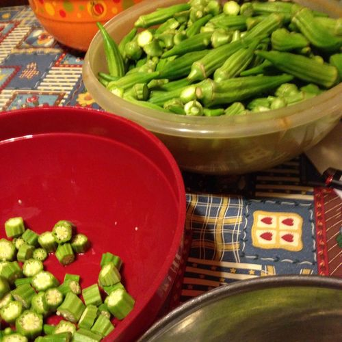 Canning day this Sunday! Who likes Okra??? Hard Work Never Hurt No One Caning Time Veggies Okra