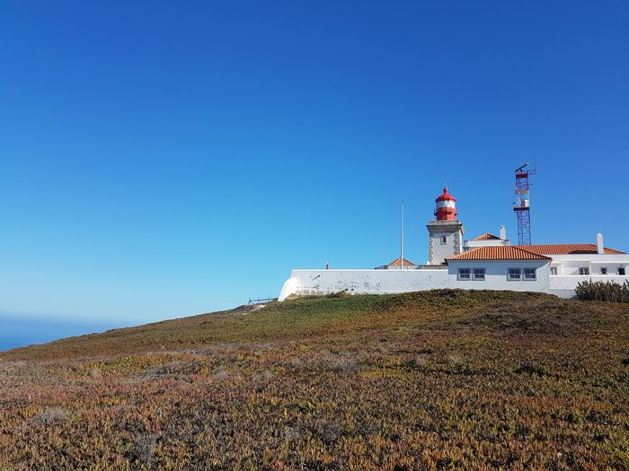 Day Outdoors Clear Sky No People Lighthouse Red&blue Cabo Da Roca, Sintra Tranquil Scene