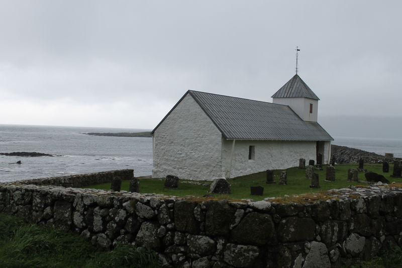 Faroe Islands Scandinavia Architecture Built Structure Building Water Building Exterior Sky Sea Cloud - Sky Nature Stone Wall Day Solid Land No People Religion Place Of Worship Spirituality Belief Outdoors Church