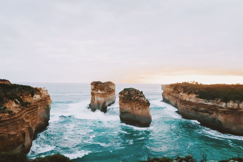 The Great Outdoors - 2017 EyeEm Awards Wave Sea Rock Formation Rock - Object Nature Beauty In Nature Tranquility Natural Arch Horizon Over Water No People Australia Outdoors Vacations Travel Destinations