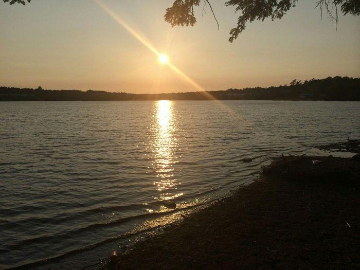 Sunset at First Lake, Lower Sackville, Nova Scotia. Nova Scotia Lake Sunset First Eyeem Photo