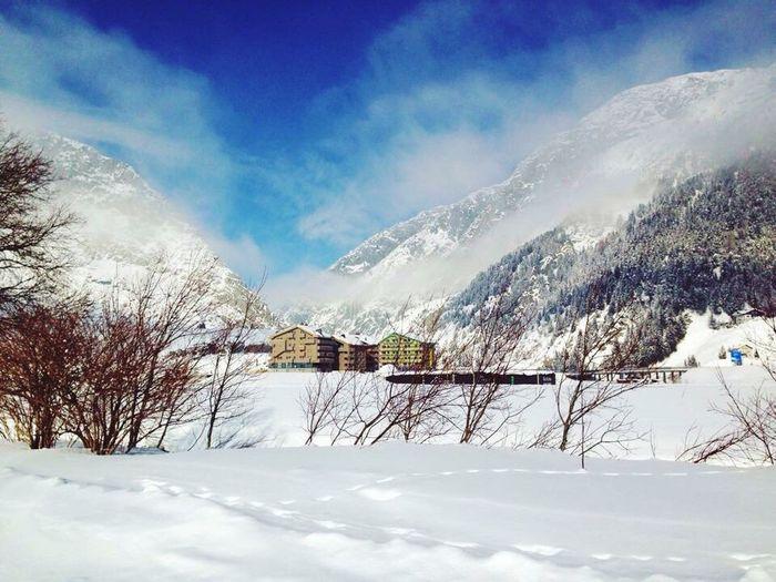 Switzerland Uri Snow Winter Wintertime White Houses Blue Sky Swiss Alps Swiss Mountains Schweiz Schweizer Alpen Alpen Alpes Alps Beautiful Sport Alone Idyllic Idyllic Scenery Snow ❄ Zentralschweiz