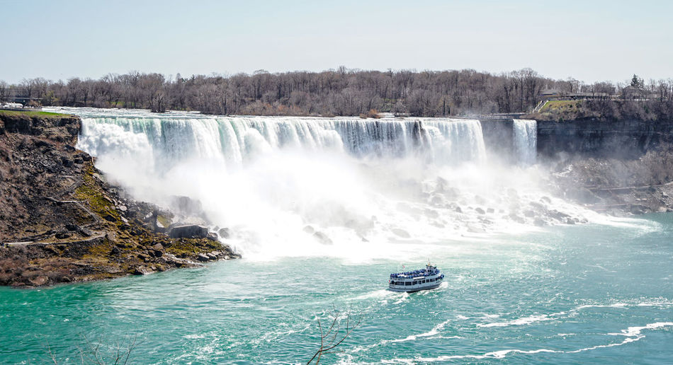 Beauty In Nature Canada Check This Out Clear Sky Day Landscape Landscape_photography Motion Nature Nature Niagara Falls No People Outdoors Scenics Sky Tree Water Waterfall
