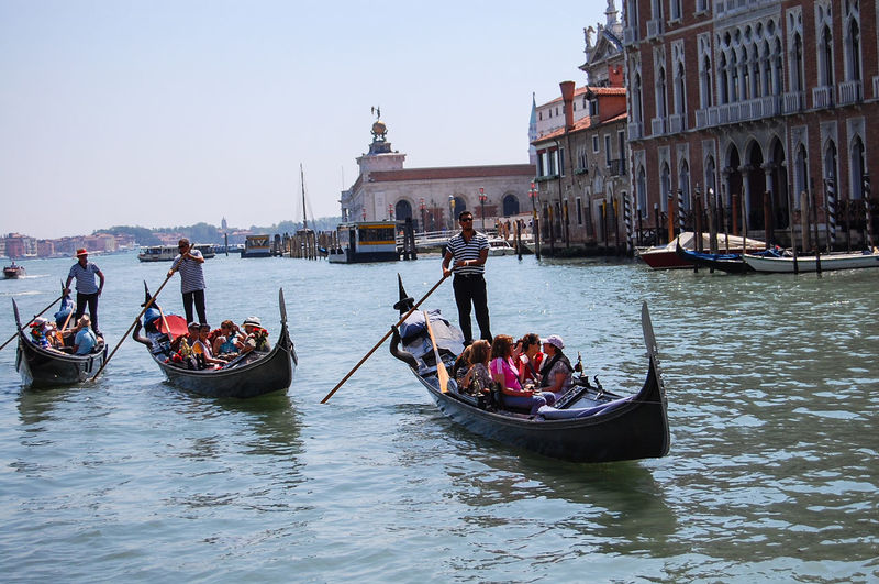 Architecture Boat Built Structure Canal Culture Day Gondola - Traditional Boat Leisure Activity Lifestyles Mixed Age Range Mode Of Transport Nautical Vessel Outdoors Rippled River Sailing Sky Tourism Tourist Transportation Travel Destinations Vacations Water Waterfront