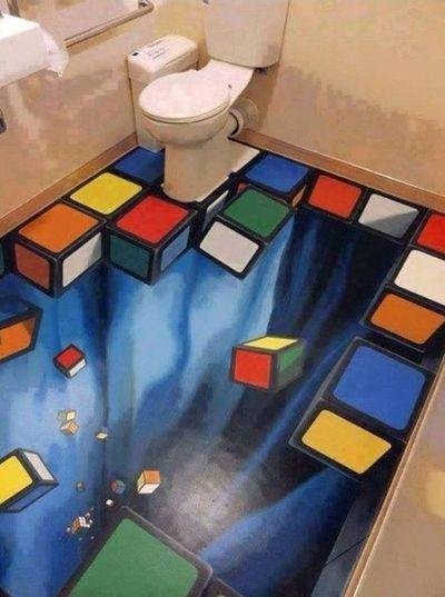 Art 3D Art 3D Photo ArtWork WOW Amazing Bathroom Nice Colors