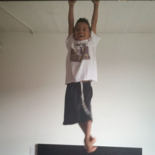 This what happens when you leave ya kids with me HangingFromTheCeiling JustKickinIt with Unk NoahJames