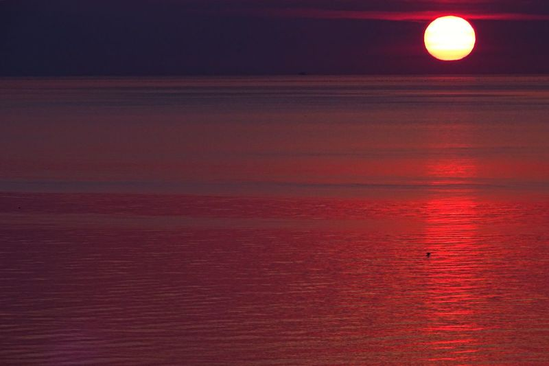 Sunrise Travel Travel Destinations Seascape Sea Red No People Reflection Water Backgrounds Pattern Full Frame Scenics - Nature Night Illuminated Beauty In Nature Light - Natural Phenomenon Tranquil Scene Nature Textured  Tranquility Outdoors Glowing Orange Color Light