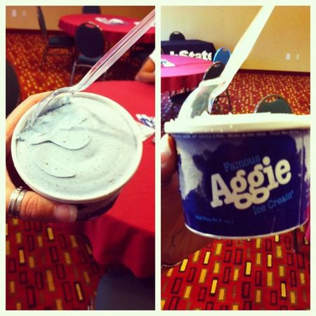 Oh baby, got to have some Aggie blue mint tonight. Aggies Usuaggies