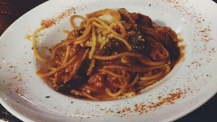 Surf & Turf Spaghetti Surf & Turf Dinner