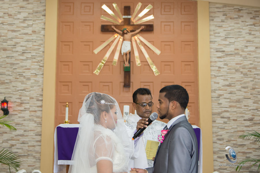 Holycross Togetherness Pastor Happiness Bridegroom Couple - Relationship Indoors  Church Real People Beautiful Woman Beautiful People Wedding Ceremony Trinidad And Tobago Stillife Wedding Photography Weddings Around The World Standing The Portraitist - 2017 EyeEm Awards