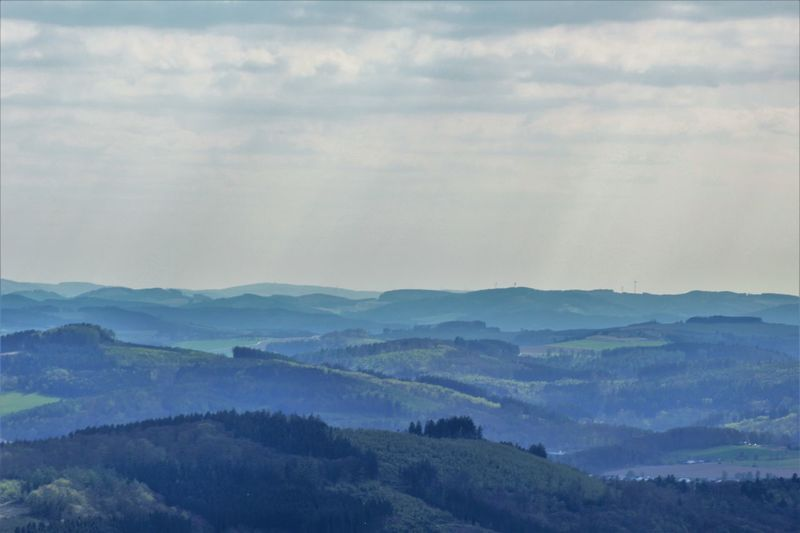 View from Lörmecke-Tower Beauty In Nature Cloud - Sky Day Forest Landscape Mountain Nature No People Outdoors Sauerland Scenics Sky Tranquil Scene Tranquility Tree View Viewpoint
