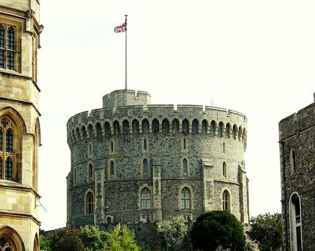 Windsor Castle Union Flag Castle Royal