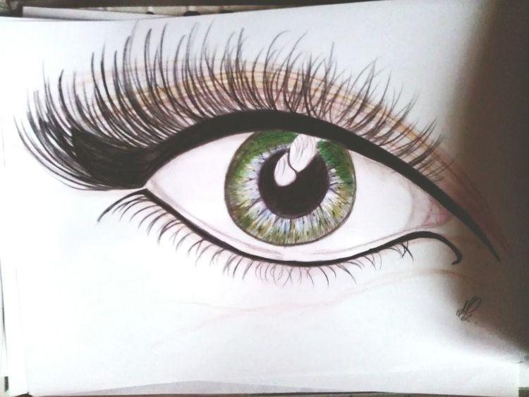 öko Eyes Drawing Kredki Green Eyes Art