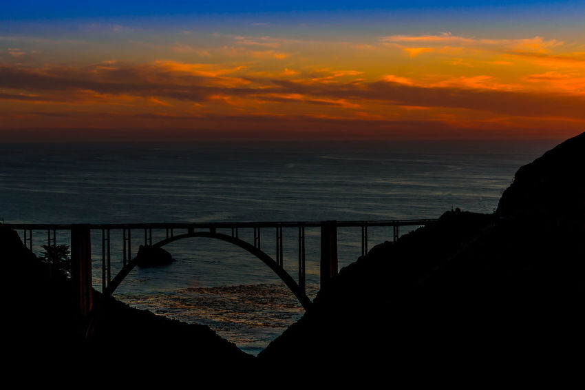 Sunset at Bixby Bridge Big Sur CALIFORNIA Sunset_collection Bixby Bridge No People Outdoors Sea Sunset Water