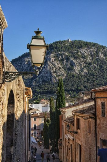 Ancient Lantern Mallorca SPAIN Ancient Architecture Ancient Civilization Architecture Building Exterior Built Structure Clear Sky Day Mountain Mountain Range No People Outdoors Stairways Tree Village
