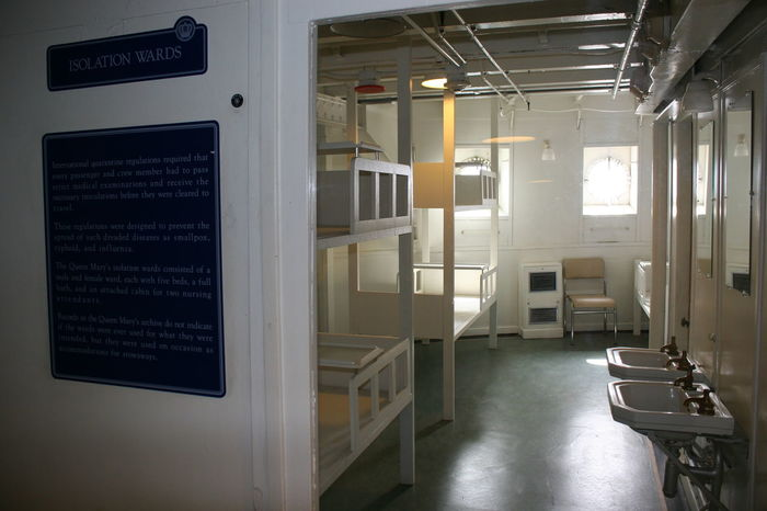 Isolation Wards on Board of RMS Queen Mary Museum Historical Sights Isolation Wards Queen Mary In Long Beach California RMS Queen Mary Architecture Communication Cruise Ship Photos Day Historic Cruise Ship Historic Ship Illuminated Indoors  Museum Museum Ship No People