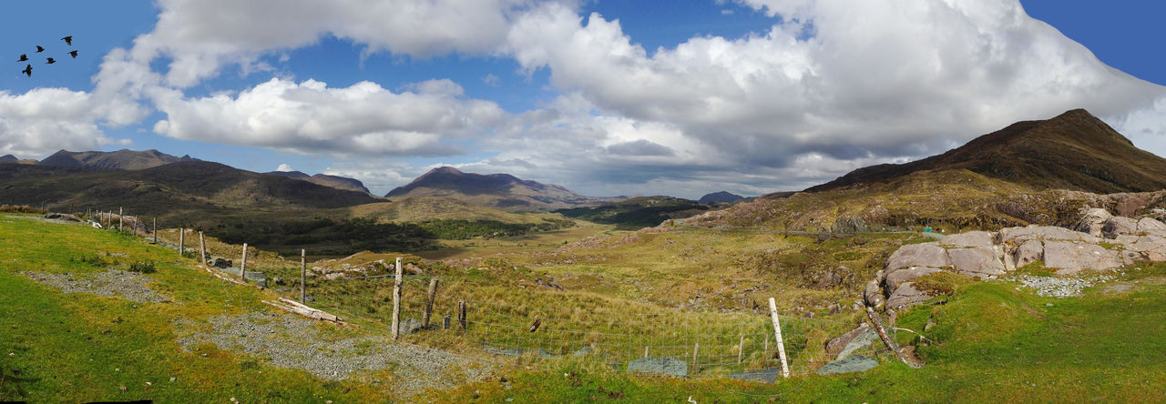 Landscape of Killarney Co. Kerry, Ireland Beauty In Nature Cloud - Sky Day Grass Landscape Mountain Mountain Range Nature No People Non-urban Scene Outdoors Physical Geography Scenics Sky Tranquil Scene Tranquility