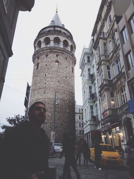 Galata Tower In İstanbul Outside Outdoors Nikonl35AD Karaköy Istanbul Turkey