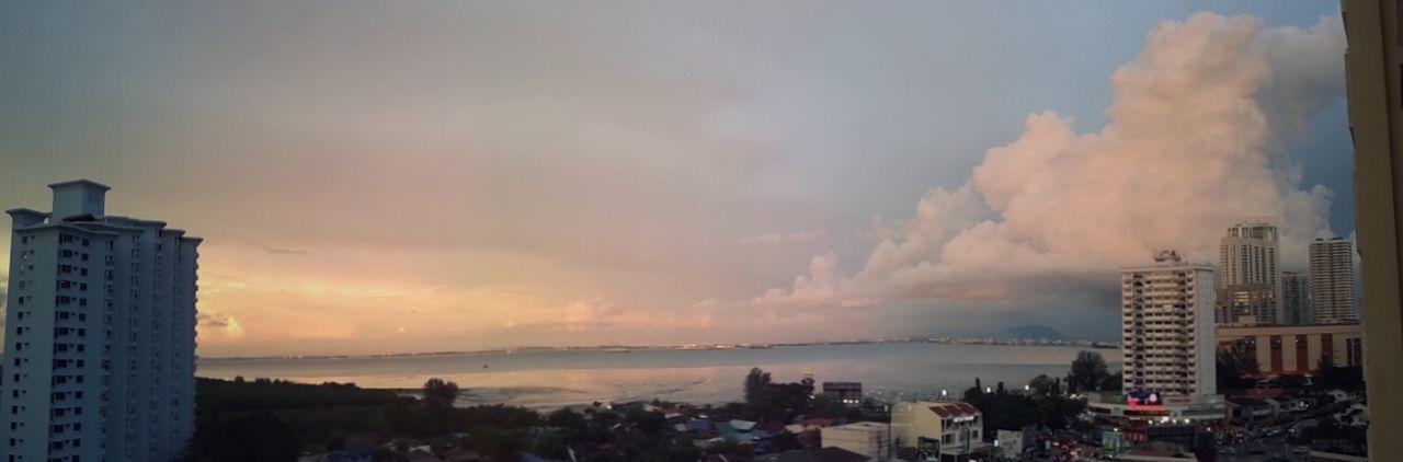 Colour Of Life Sunset Plus Blue Hour Samsung Gt-18552 Penang Malaysia Enjoying Life Blessed  Wonderful View Tanjung Tokong