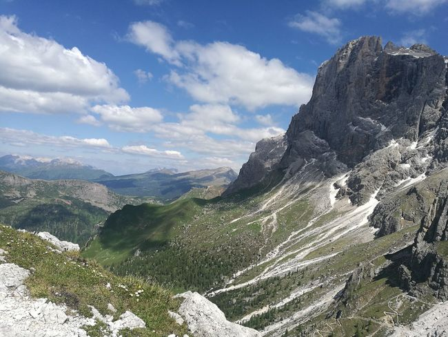 I❤DOLOMITI Mountain Forest Cliff Mountain Peak Pinaceae Pine Tree Hiking Sky Landscape Mountain Range