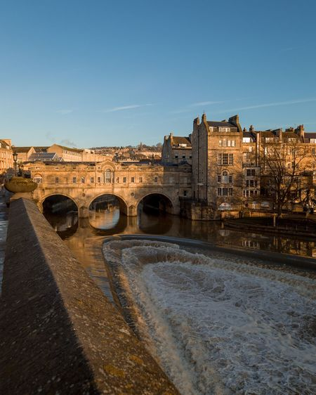 Pulteney bridge, Bath EyeEm Selects Architecture Built Structure Building Exterior Sky Nature Building Clear Sky City Travel Travel Destinations History Water No People Day Copy Space The Past Blue Connection Outdoors