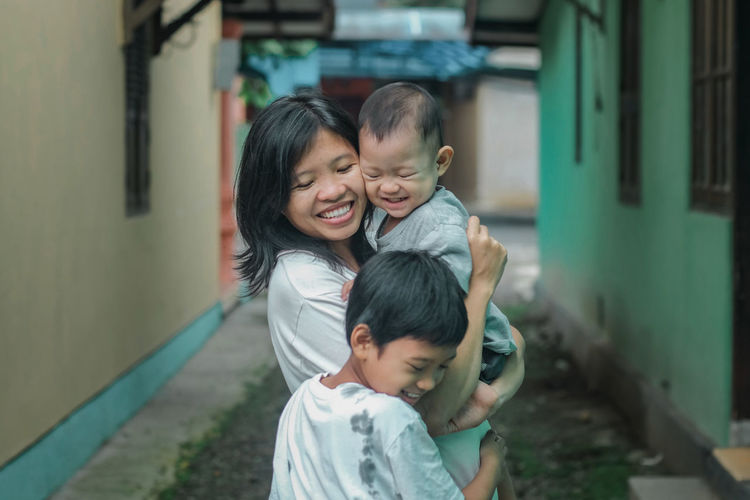 my wife and our son's get laugh Togetherness Child Family Childhood Bonding Emotion Females Positive Emotion Love Parent Women Happiness Boys Smiling Portrait Son My Best Photo International Women's Day 2019