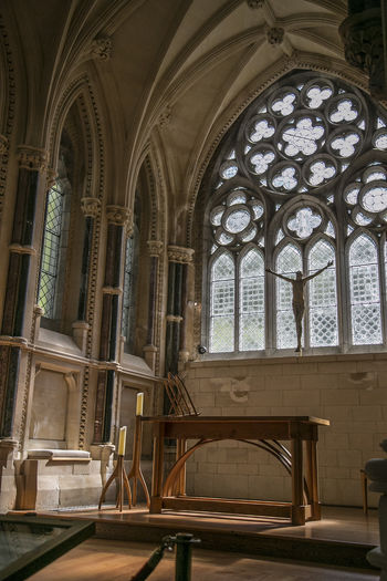 Arch Architecture Built Structure Day Gothic Church Indoors  Low Angle View No People Place Of Worship Religion Spirituality Window