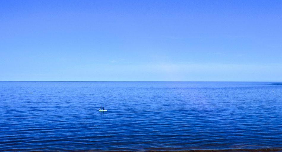 Olympus OM 2n Film Photography Fuji Velvia 100 Water Sea Nautical Vessel Horizon Over Water Scenics - Nature Beauty In Nature Blue