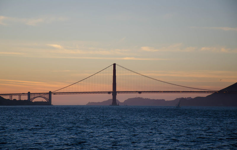Winter in SF - sunset on the bay. San Francisco Architecture Sunset Enjoying The View