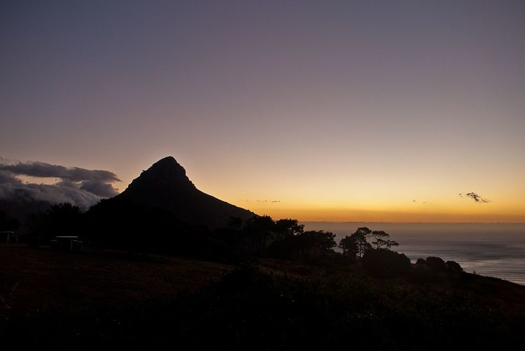 Lions Head in Backlight Lionshead Lions Head Sunset Sunset Silhouette Landscape Travel Destinations Nature Beauty In Nature Sky Scenics Outdoors Tranquility No People Mountain Sea Astronomy Day