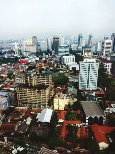 Jakarta city from mnc tower 27 floor Taking Photos Mnc Tower Good Morning