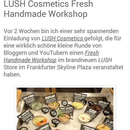 LUSH Fresh Handmade Workshop - Read more about this great event now on ??? www.catliciousgoesnatural.de ??? @lushdeutschland Lush Lushcosmetics Naturalcosmetics Freshhandmadeworkshop workshop lushkitchen bloggerevent event soaps bathbombs bblogger beautyblogger blogger frankfurt