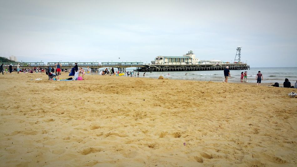 Bournemouth Beach Pier Sand Summer Uk