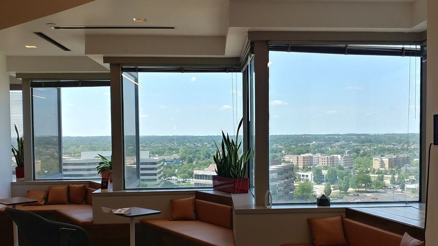View Break Room Relaxation Scenery Windows Window View Booth Home Showcase Interior Cityscape Luxury Domestic Life Apartment Looking Through Window Penthouse Mansion Office Building