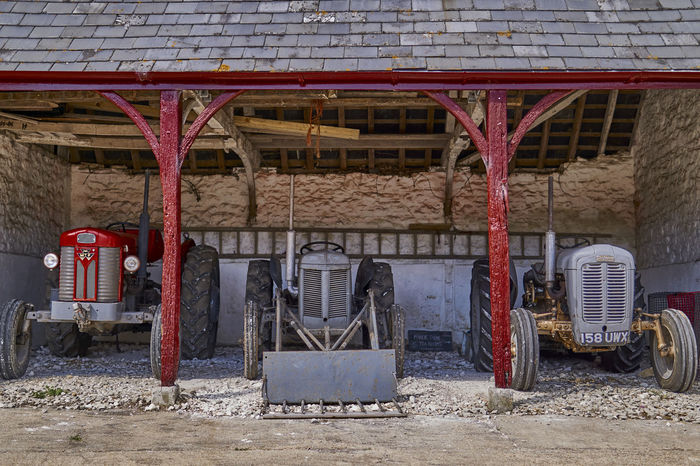 old tractors HDR Tractor Abandoned Architecture Building Exterior Built Structure Day Land Vehicle Metal No People Outdoors Red Transportation EyeEmNewHere