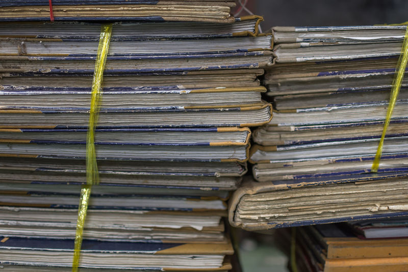 Old documents Abundance Arrangement Close-up Day For Sale Freshness Large Group Of Objects Market No People Old Documents Outdoors Pile Stack