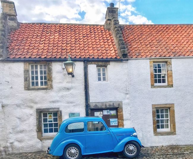 Culross, Fife, Scotland. Outlander. Architecture Building Exterior Window Built Structure Blue Outdoors Day No People Sky