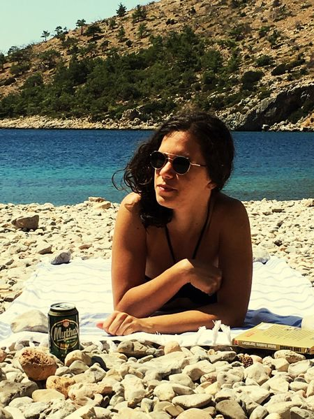 EyeEm Selects Young Adult Reading A Book Girl Chios Real People Day Dreaming Beach The Week On EyeEm