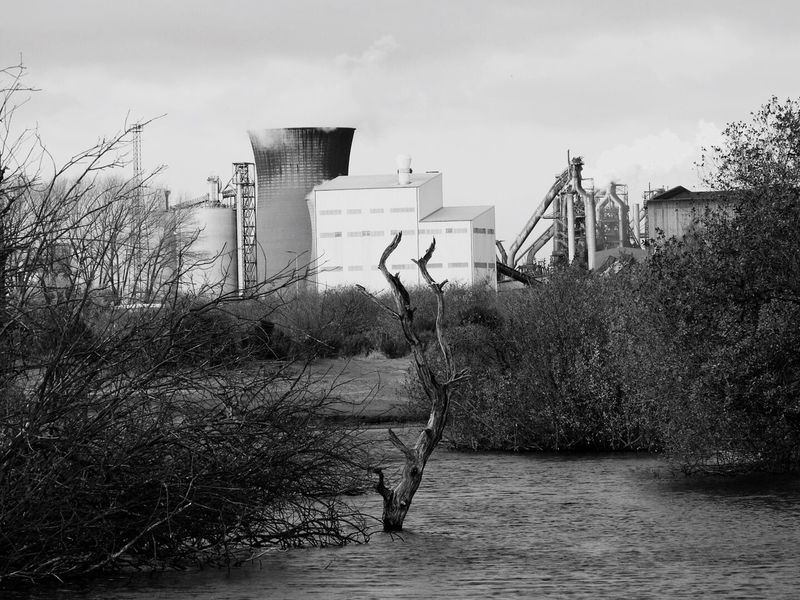 Industry and Nature Built Structure Outdoors No People Nature Landscape Ashby Ville Industrial Building  Steel Works Scunthorpe Scenics