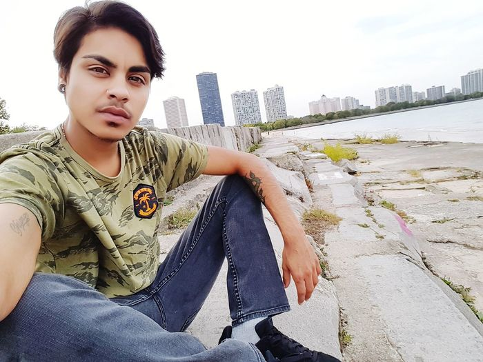 Chicago Ftm One Person Transgender Trans Portrait Looking At Camera People Young Adult Day Outdoors Adult City Sky