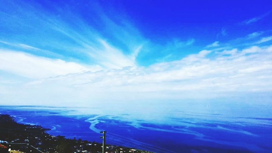 Horizon EyeEm Gallery Seaside Seaview Shadows On The Sea White Clouds In Blue Sky Freedom Sicily Nature Pure Messina Blue Sea Cityscape Sky Horizon Over Water Cloud - Sky Landscape Sky Only Power In Nature