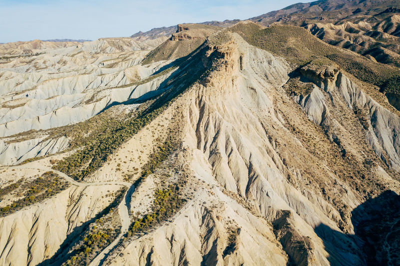 DJI X Eyeem Desert Wild West Aerial View Beauty In Nature Day Desert Landscape Landscape Mountain Mountain Range Nature No People Outdoors Physical Geography Sand Scenics Tabernas Desert Tranquil Scene Tranquility Western
