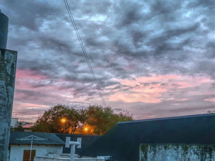 Cotton Candy Skies Textured Sky Textured  Rooftops Cottoncandyclouds Cotton Candy Sky Eyeemphotography EyeEm Best Shots - Landscape Tree Illuminated Galaxy Storm Cloud Storm Dramatic Sky Cumulonimbus Lightning Overcast Atmospheric Mood Sky Only Power Line  Electricity Pylon Building Residential Structure
