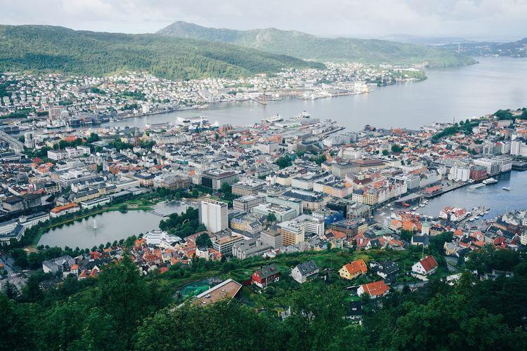 Bergen seen from  fløien