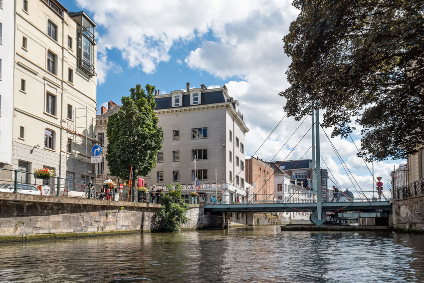 Cityscape of Ghent Architecture Belgium Bridge Building Exterior Built Structure Canal Canals And Waterways City City City Life Cityscape Day Ghent Landmark Nautical Vessel Outdoors Scenics Travel Travel Destinations Water Waterfront